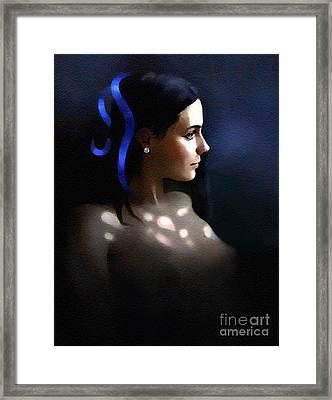 Blue Ribbon Framed Print by Robert Foster