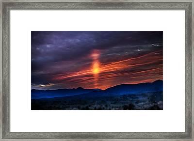 Blue Ridge Angel Framed Print by Karen Wiles