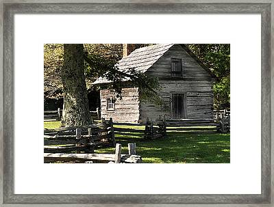 Blue Ridge Cabin Framed Print by Steve Archbold