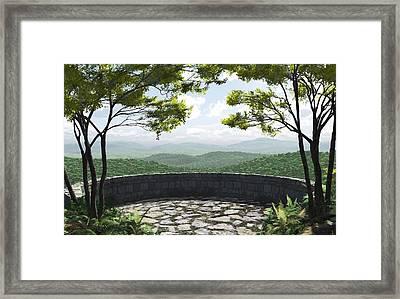 Blue Ridge Framed Print by Cynthia Decker