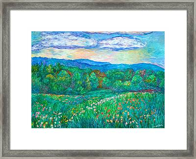 Blue Ridge Meadow Framed Print by Kendall Kessler