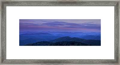Blue Ridge Panorama At Dusk Framed Print by Andrew Soundarajan