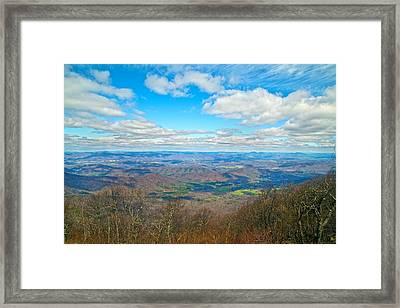 Blue Ridge Parkway Beautiful View Framed Print by Betsy Knapp
