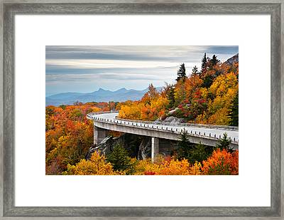 Blue Ridge Parkway Fall Foliage Linn Cove Viaduct Framed Print by Dave Allen