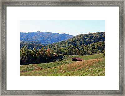 Blue Ridge Scenic Framed Print by Suzanne Gaff