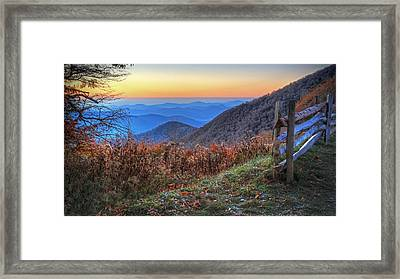 Blue Ridge Sunrise Framed Print by Jaki Miller
