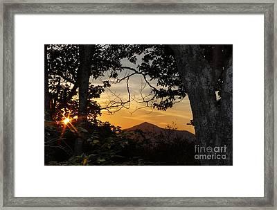 Blue Ridge Sunset Framed Print by Jonathan Welch