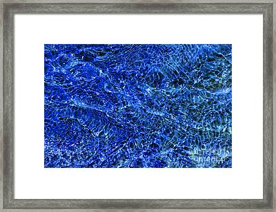 Blue Rippling Water Pattern Framed Print by Tim Gainey