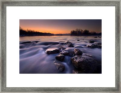 Blue River Framed Print by Davorin Mance
