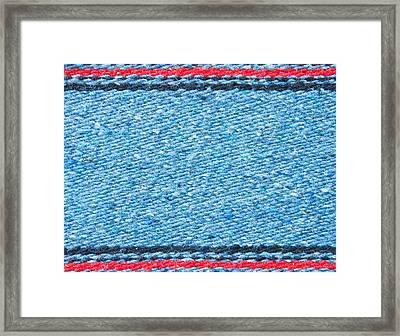 Blue Rug Framed Print by Tom Gowanlock