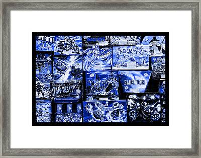 Blue Rush Framed Print by John Stephens