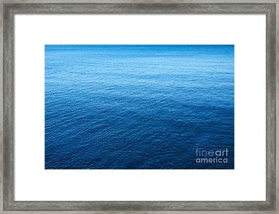 Blue Sea Framed Print by Carlos Caetano