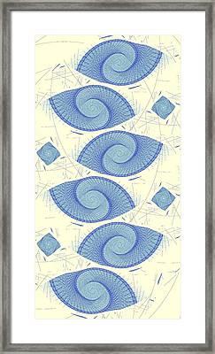 Blue Shells Framed Print by Anastasiya Malakhova