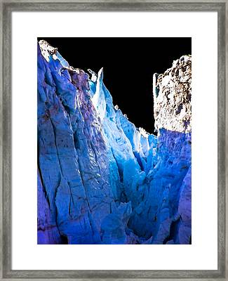 Blue Shivers Framed Print by Karen Wiles