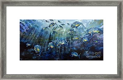 Blue Shoal Framed Print by Dave Hancock