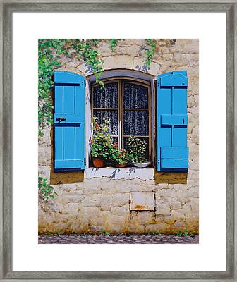 Blue Shutters Framed Print by Michael Swanson