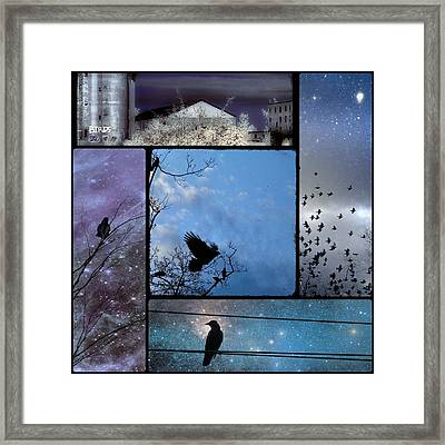 Blue Skies Framed Print by Gothicolors Donna Snyder