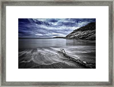 Blue Sky ... High Tide Framed Print by Chad Tracy
