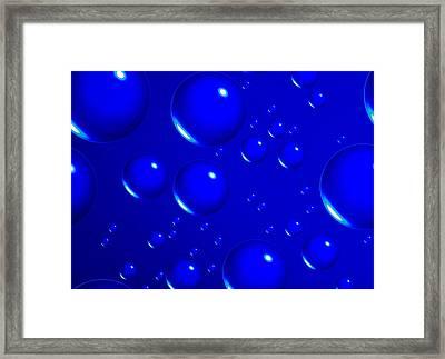 Blue Sphere-abstract Framed Print by Tom Druin