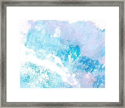 Blue Splash Framed Print by Ann Powell