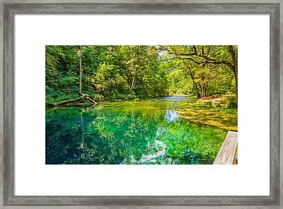 Blue Spring Framed Print by John M Bailey