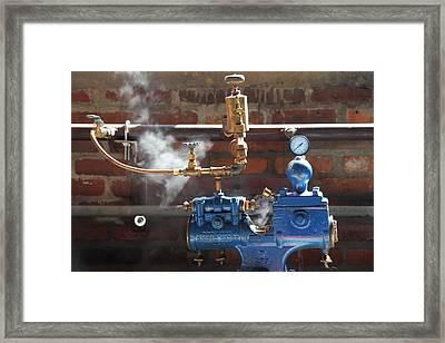 Blue Steam Machine Framed Print by Pat Williams