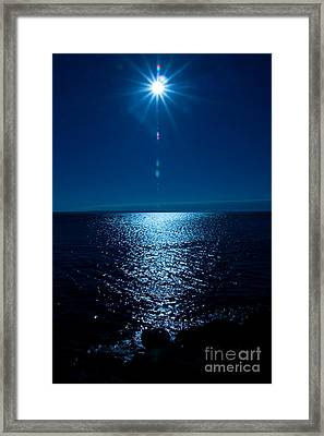 Blue Sunset Sky Framed Print by Dana Kern