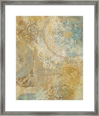 Blue Tapestry Framed Print by Marilu Windvand