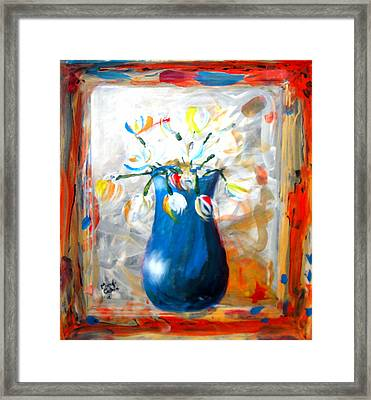 Blue Thing Framed Print by Marcello Cicchini