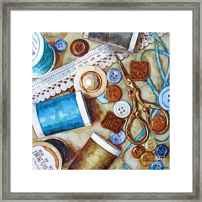 Blue Thread Framed Print by Wendy Westlake