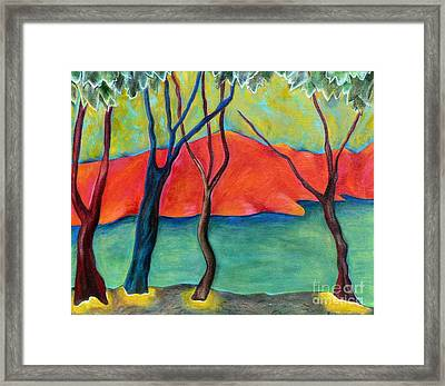 Blue Tree 2 Framed Print by Elizabeth Fontaine-Barr
