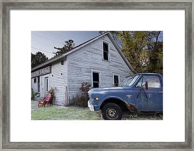 Blue Truck Framed Print by Jim Baker