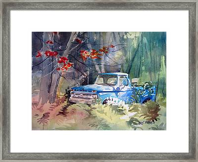 Blue Truck Framed Print by Kris Parins