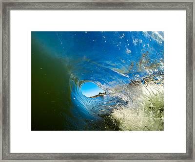 Blue Tube Framed Print by David Alexander