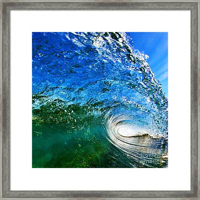 Blue Tube Framed Print by Paul Topp