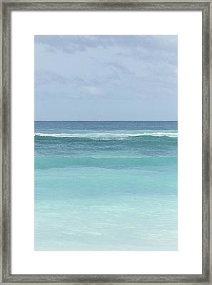 Blue Turquoise Teal Beach Gradient Photo Art Print Framed Print by Ocean Photos