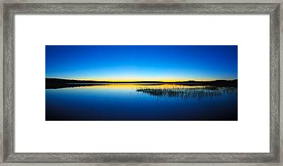 Blue Twilight Panorama Framed Print by Bill Caldwell -        ABeautifulSky Photography