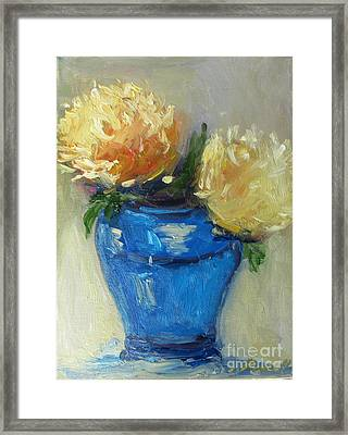 Blue Vase Color Study Framed Print by Barbara Anna Knauf