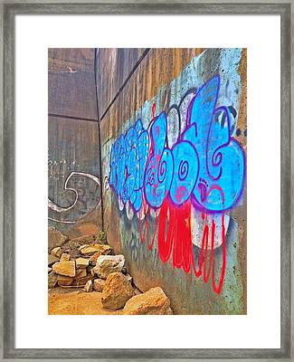 Blue Wall Framed Print by Andrew Martin