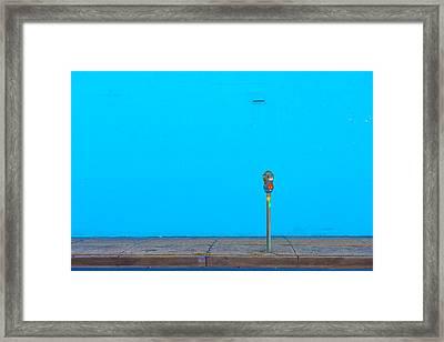 Blue Wall Parking Framed Print by Darryl Dalton