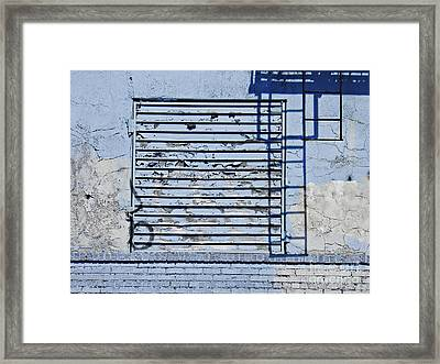 Blue Wall Framed Print by Sarah Loft