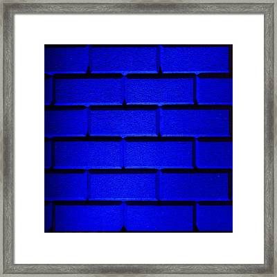 Blue Wall Framed Print by Semmick Photo