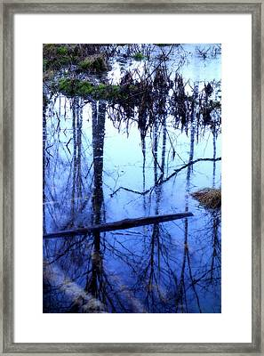 Still Blue Water Is My Mirror  Framed Print by Hilde Widerberg