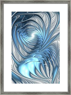 Blue Wave Framed Print by Anastasiya Malakhova