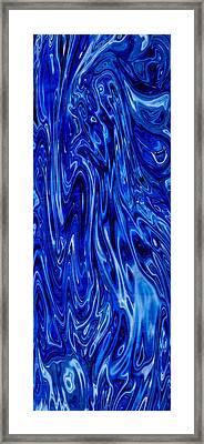 Blue Waves Of Beauty Framed Print by Omaste Witkowski