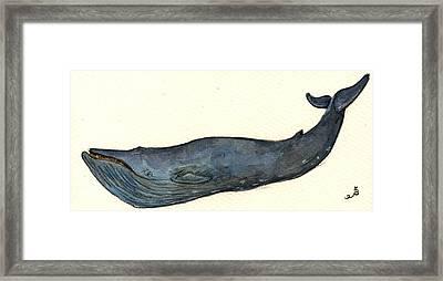 Blue Whale Framed Print by Juan  Bosco