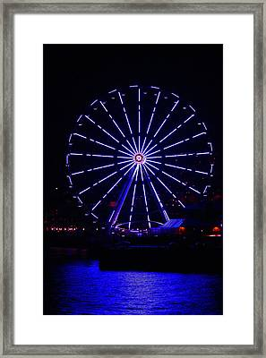 Blue Wheel Of Fortune Framed Print by Kym Backland