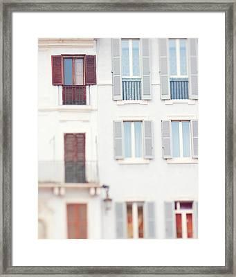 Blue Windows Framed Print by Kim Fearheiley