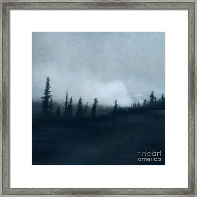 Blue Woods Framed Print by Priska Wettstein