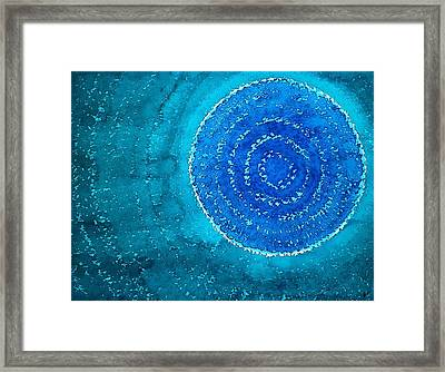 Blue World Original Painting Framed Print by Sol Luckman